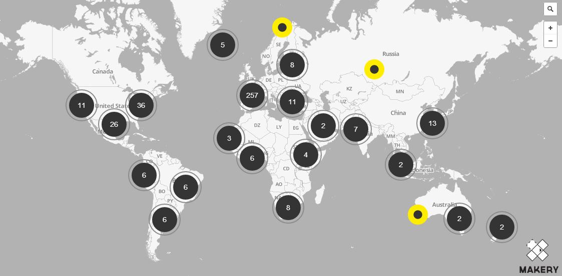 Carte des labs : Makery