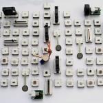 L'ensemble des modules des kits SAM pour l'Internet des objets, livraison promise en mars 2015. © SAM Labs