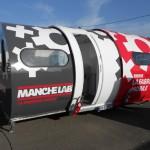 Le Manche Lab a bénéficié de l'appel à projet fablabs pour lancer sur les routes de Basse Normandie sa caravane mobile de 4 m2. © DR