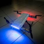 Ce drone-clavier a volé. Et même plutôt bien. © Quentin Chevrier