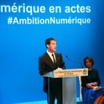 Manuel Valls annonce sa future loi sur le numérique à la Gaité Lyrique le 18 juin. © Robin Lambert
