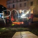 Light graffiti à POC21, où une centaine de makers prototypent des solutions durables pour le climat. © CC-Ophelia Noor