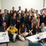 Jury, mentors et candidats réunis pour la photo finish du Greenathon. © Nicolas Barrial